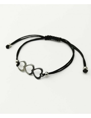 Pulsera Corazon Triple